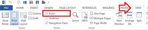 Word 2013 How To Enable The Page Ruler It Support Guides