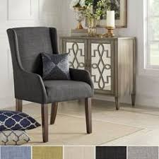 inspire q jourdan linen sloped arm hostess chair dark gray linen grey find this pin and more on diningroom