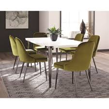 Riverbank Contemporary Dining Room Table Set by Coaster