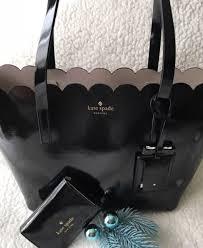 kate spade lily avenue black patent leather carrigan handbag bag tote pxru7065