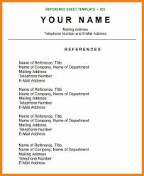reference-page-resume-reference-sheet-template reference page resume