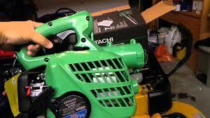 hitachi 23 9cc 2 cycle gas powered handheld leaf blower. hitachi 23 9cc 2 cycle gas powered handheld leaf blower