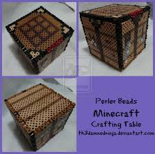 3d minecraft crafting table perler beads by th3damnedninja on 3d minecraft crafting table perler beads by th3damnedninja on