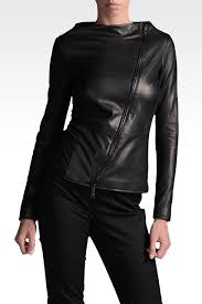 emporio armani women leather jacket emporio armani official
