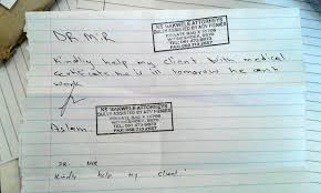 Fake Doctors Note With Stamp Fake Doctor Bust Daily Sun