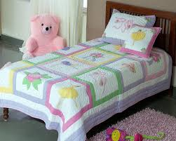 you re reviewing balerina design patchwork applique embroidered baby quilt set