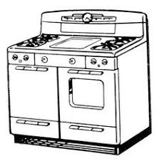 gas stove clipart black and white. vintage mostly b/w clipart \u0026 illustration gas stove black and white t