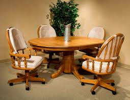 6 Piece Solid Oak Dining Set With Butterfly Leaf City Creek Furniture