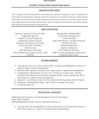 Sample Resume For Facility Maintenance Manager