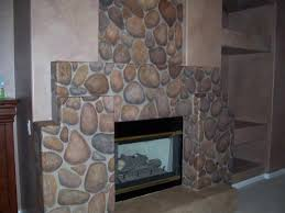 here is the completed fireplace i also painted the hearth to look like an old cement slab