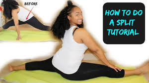 inflexible splits. how to do a split in one day!   splits tutorial inflexible splits