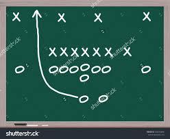 football play on chalkboard diagrams xs stock illustration Football X And O Diagrams football play on a chalkboard with diagrams of x's and o's to denote football x o diagrams
