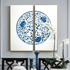 2019 modern chinese style vase china blue and white canvas paintings posters and prints for living room study room wall art couple hd from asite