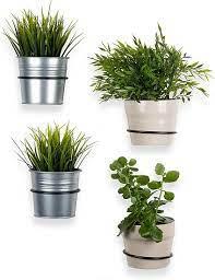 wall mounted pot ring planter holder