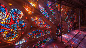 timelapse transforms stained glass light into a stunning kaleidoscopic display aeon s