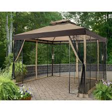 garden netting lowes. Gazebo Design, Canopies Lowes Black Steel Frame Dark Brown Canopy Mosquito Garden Netting