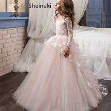 In Stock Lace Tulle Pink <b>Ball Gown Flower Girl</b> Dresses for wedding ...
