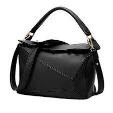 Yoome Women's Faux Leather Casual <b>Tote Bag</b> Boston Shoulder ...