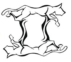 эскиз близнецов в виде абстрактных животных эскизы татуировок