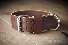 large leather dog collar for strong dogs