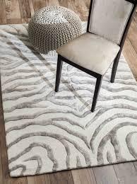 gray and ivory zebra rug designs