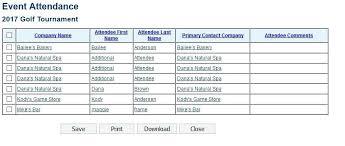 Event Attendance List Template Puntogov Co