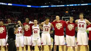 Wisconsin Mens Basketball The Bradley Center Sings Varsity