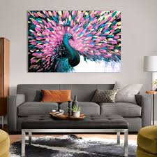 extra large wall art large wall art wall art modern art  on extra large wall art teal with extra large wall art teal peacock painting wall hanging home decor