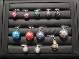 silver and coloured enamel harmony ball pendant