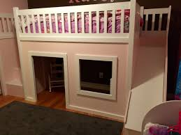 loft with slide. playhouse loft bed with stairs and slide