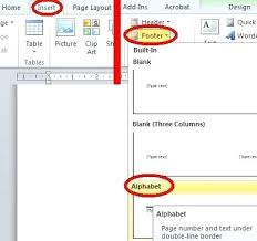 Resume Layout For Microsoft Word 2010 Using Headers And Footers To