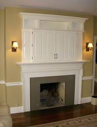tv cabinet above fireplace lke de wall over