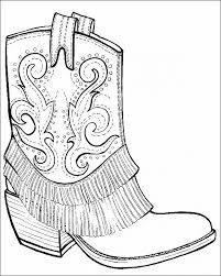 Cowboy Boots And Hat Coloring Page Free Enchanting Cowboy Hat