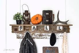 Reclaimed Wood Coat Rack Shelf Awesome Interchangeable FALL FARM Reclaimed Wood Coat Hook ShelfFunky Junk