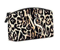 victoria s secret leopard cosmetic bag everyday glamour starts with gold vs hardware and bold leopard print 9 x 2 x 4 victoria s secret bags cosmetic bags