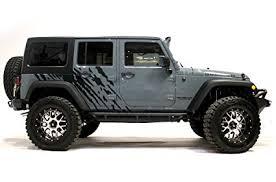 jeep wrangler 2007 2018 4 door splash graphics kit 3m vinyl