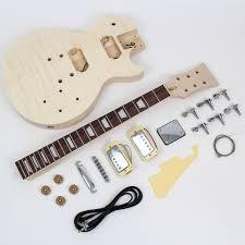 les paul style guitar kit flame maple
