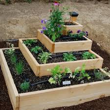 Raised Garden Bed Design Ideas Diy Stacked Herb Garden
