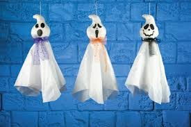 Halloween Ghost Decorations Hanging of Tree Ghosts
