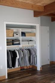 easy to reach shelving and hanging rod make this closet
