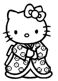 Klik Hier Om De Hello Kitty Kleurplaat Te Downloaden Zwart Wit