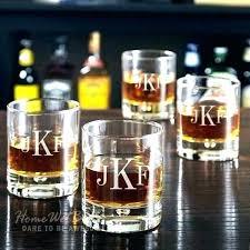 monogrammed rocks glasses custom scotch glass whiskey ships fast personalized rocks etched engraved bourbon groomsmen glasses