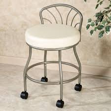 flare back powder finish vanity chair touch to zoom