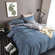 blue duvet sets simple plain blue and grey bedding set queen size duvet covers flat bed
