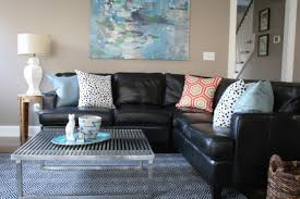 Black Leather Sofa Decorating Ideas - Black couches living rooms