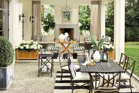 Black and white patio furniture Deck Patio Stripesoutdoors1 Elements Of Style Blog Outdoor Decor Black White And Rad All Over Elements Of Style Blog