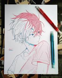 With anime expanding and taking over the world, many are inspired by some great illustrators. Anime Ignite On Instagram Todoroki By Km Animearts Like Anime And Animeart Visit Anime Drawings Sketches Anime Drawings Boy Anime Drawings