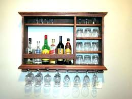 wall mounted liquor cabinets typical wall mount