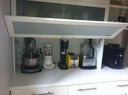 Appliance Garages Kitchen Cabinets Kitchen Appliance Garage White Area Ceramic Floor White Paunted