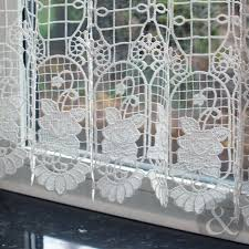 Kitchen Cafe Curtains Cafe Net Curtains Natural White Kitchen Nets Macrame Ready Made